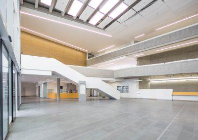 BGU Konferenzzentrum und Eingangshalle