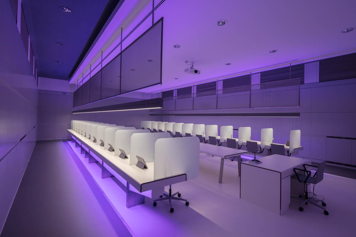 Sensorikzentrum LWG Prüfplätze Verkostung Licht Wein Veitshöchheim